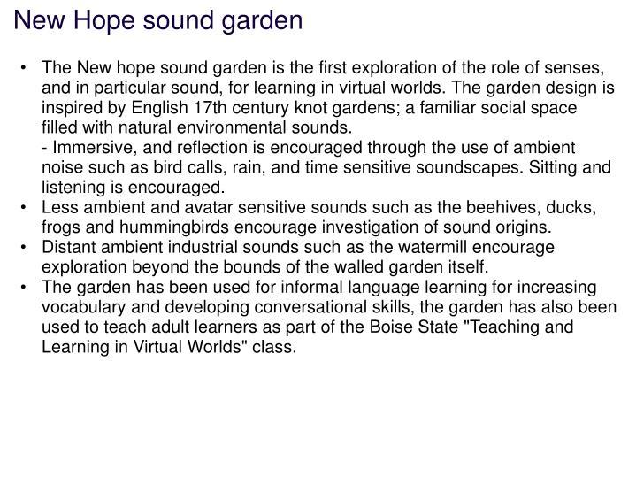 New Hope sound garden
