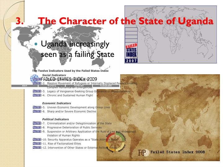 3.The Character of the State of Uganda