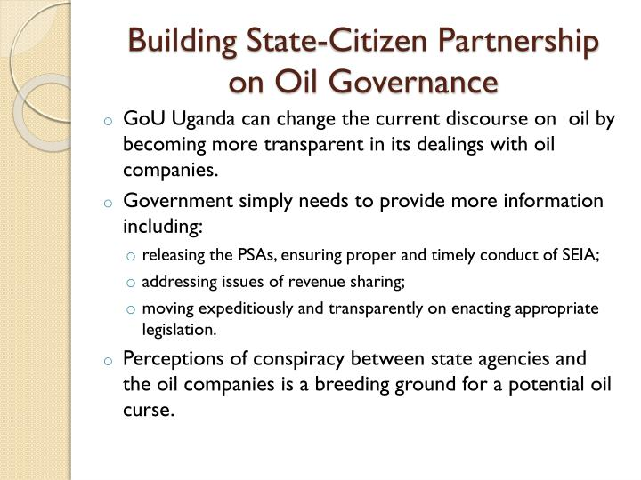 Building State-Citizen Partnership on Oil Governance