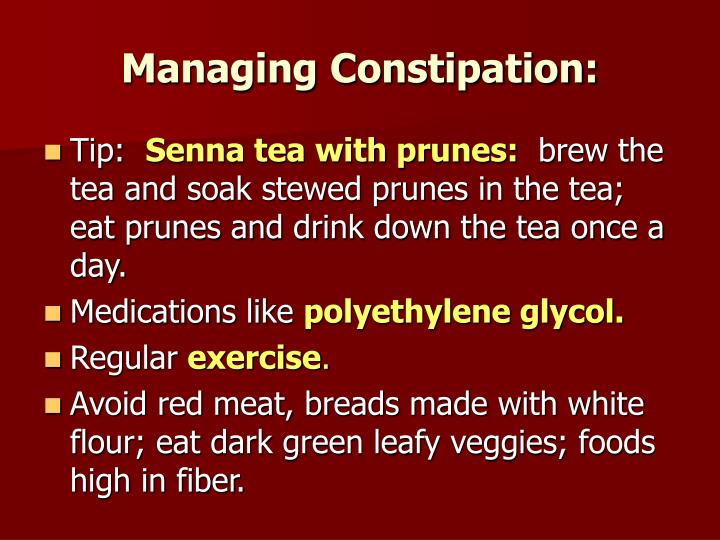 Managing Constipation: