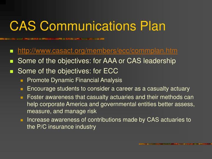 CAS Communications Plan