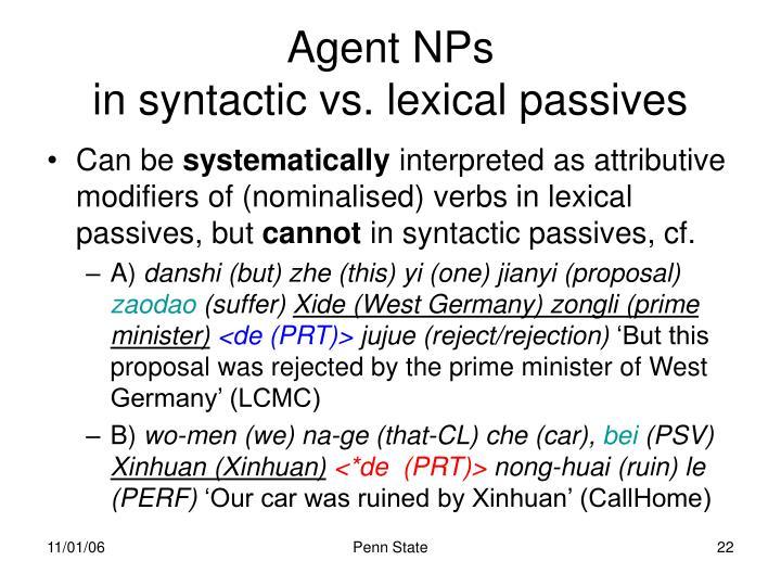 Agent NPs