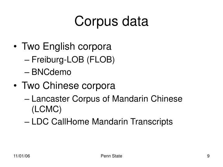 Corpus data