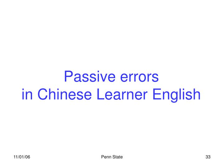Passive errors