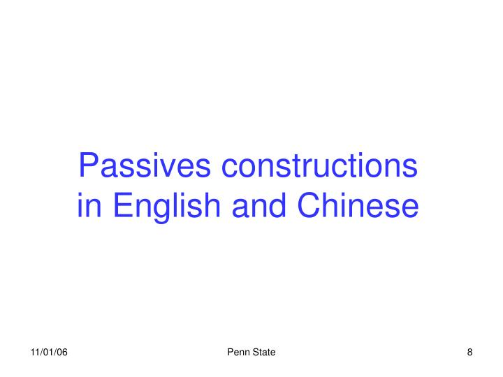 Passives constructions