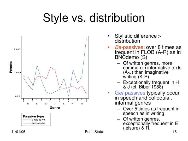 Style vs. distribution