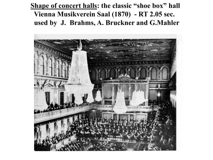 Shape of concert halls