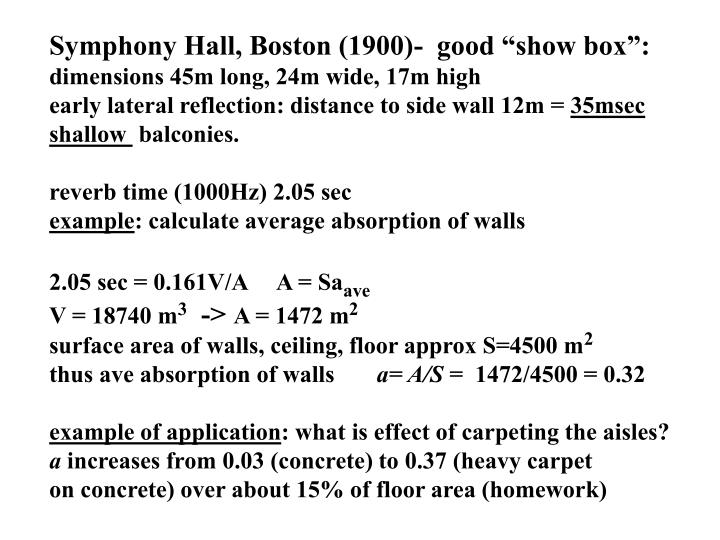 "Symphony Hall, Boston (1900)-  good ""show box"":"