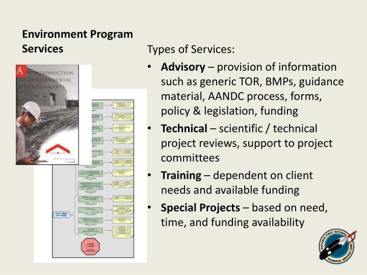 Environment Program Services