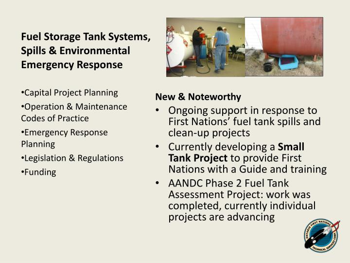 Fuel Storage Tank Systems, Spills & Environmental Emergency Response