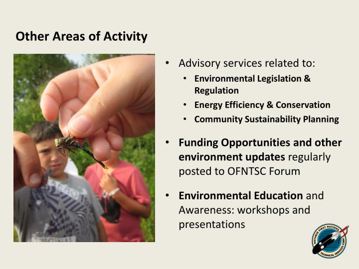 Other Areas of Activity