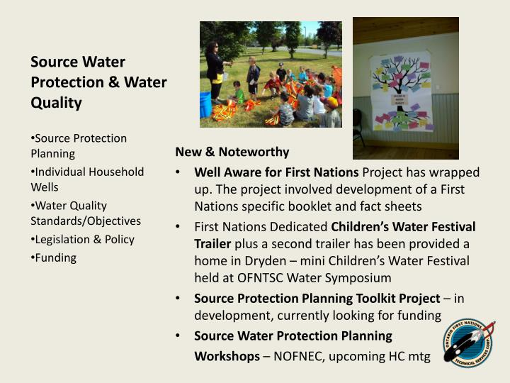 Source Water Protection & Water Quality