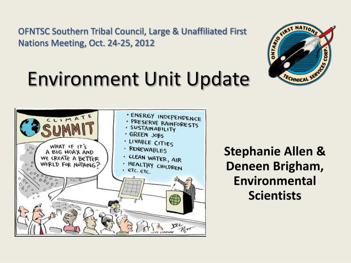 Stephanie allen deneen brigham environmental scientists