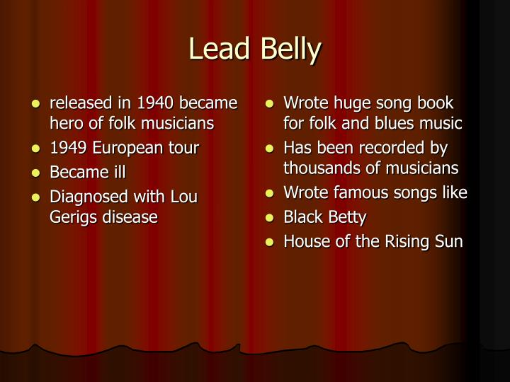released in 1940 became hero of folk musicians