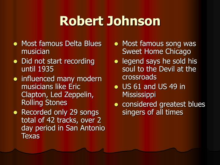 Most famous Delta Blues musician