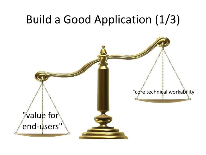 Build a Good Application (1/3)