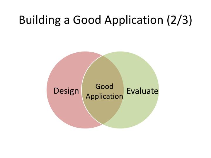 Building a Good Application (2/3)