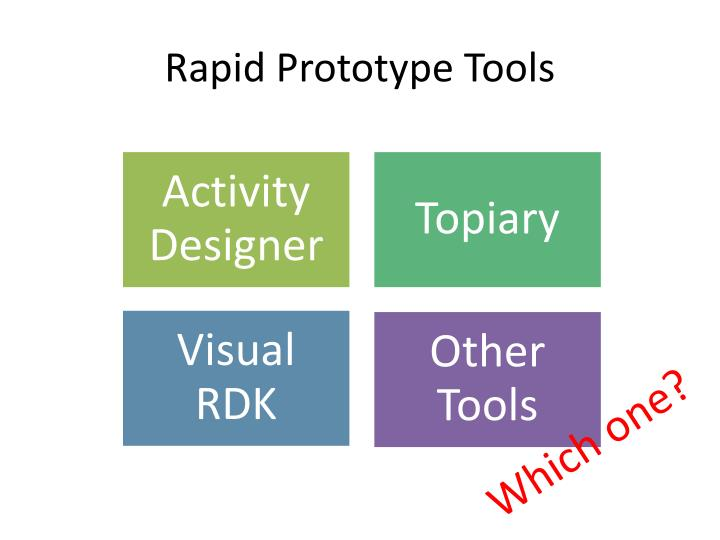 Rapid Prototype Tools
