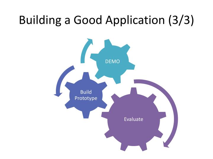 Building a Good Application (3/3)