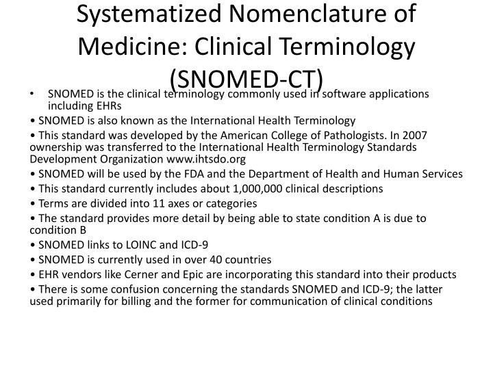 Systematized Nomenclature