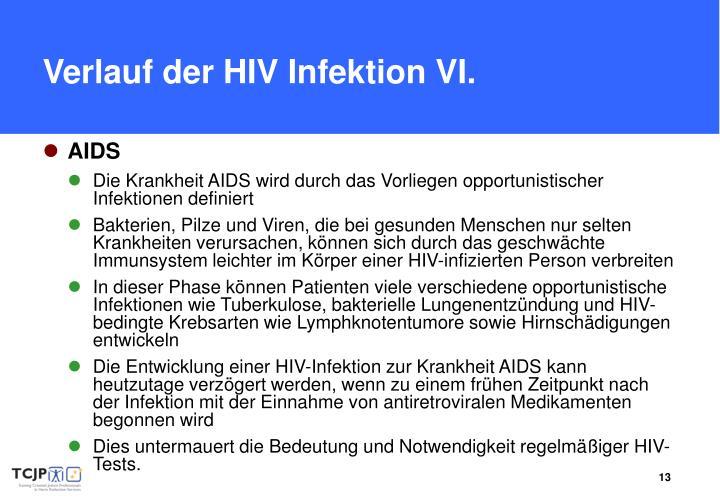 Verlauf der HIV Infektion
