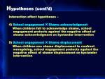 h ypotheses cont d