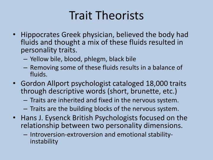 Trait Theorists