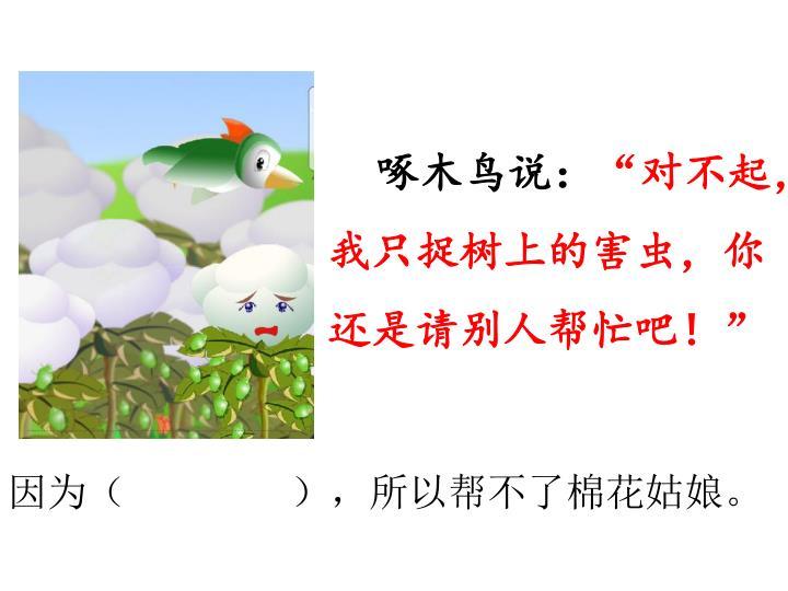 啄木鸟说: