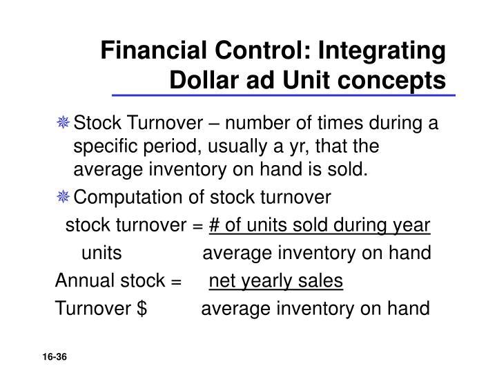 Financial Control: Integrating Dollar ad Unit concepts