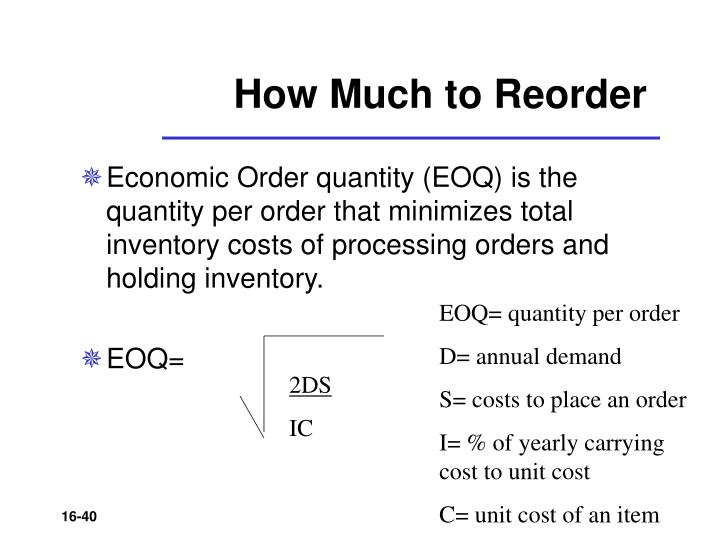 How Much to Reorder