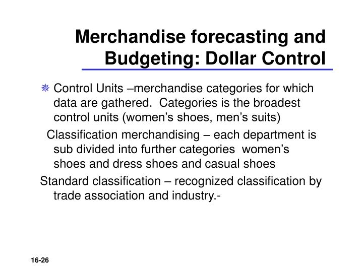 Merchandise forecasting and