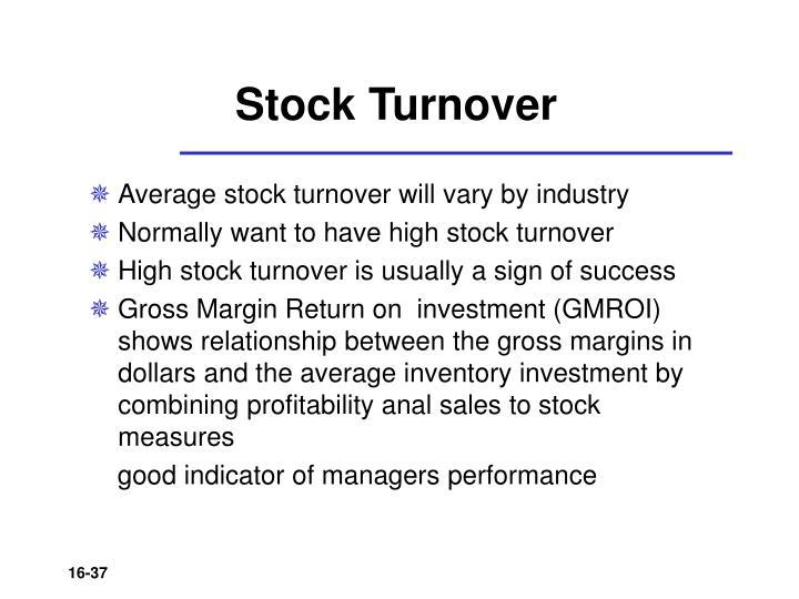 Stock Turnover