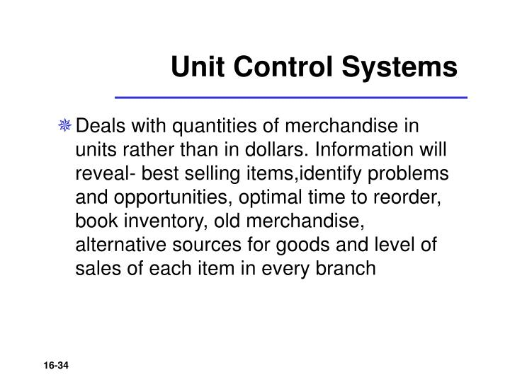 Unit Control Systems