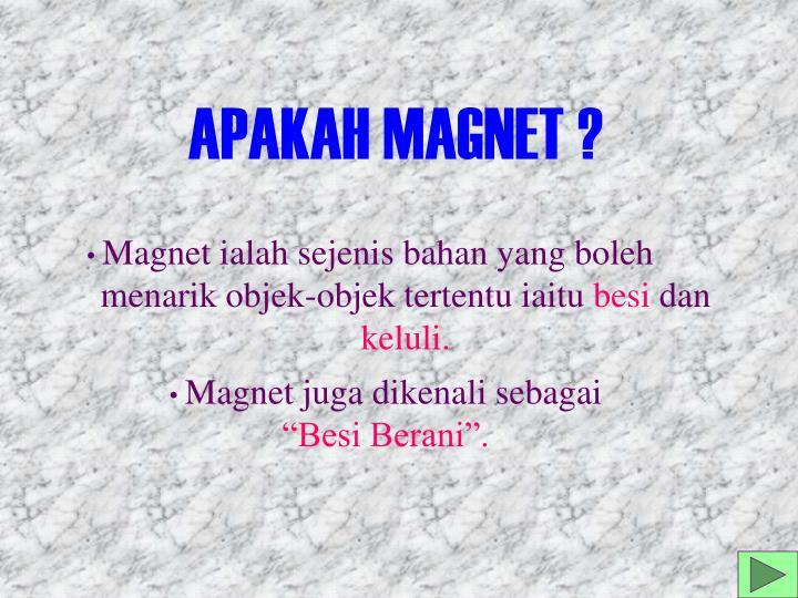 APAKAH MAGNET ?
