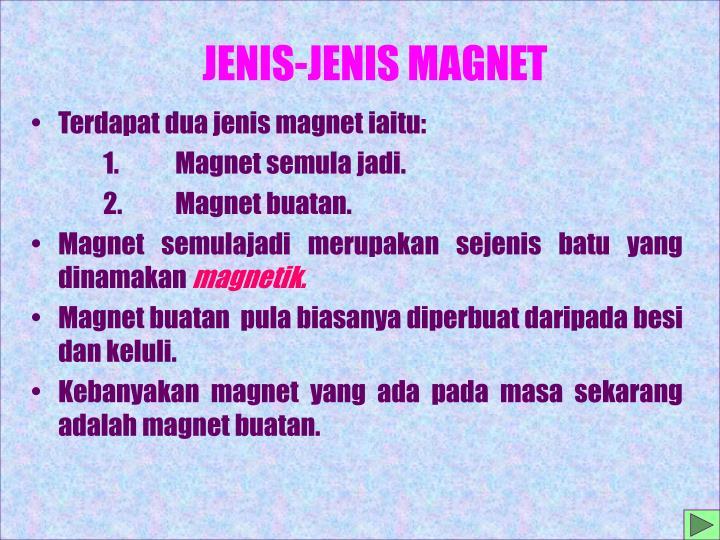 JENIS-JENIS MAGNET