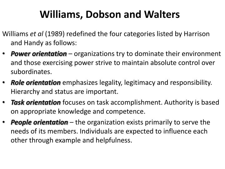 Williams, Dobson and Walters