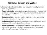 williams dobson and walters