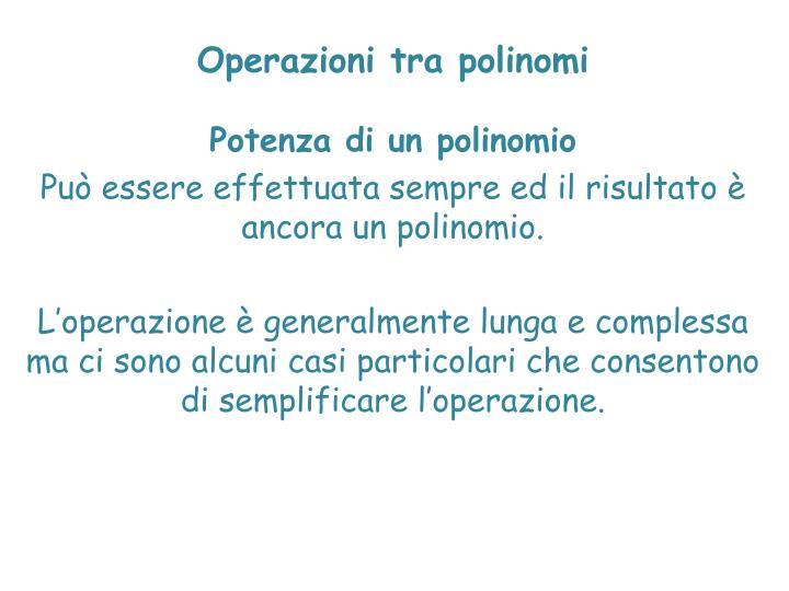Operazioni tra