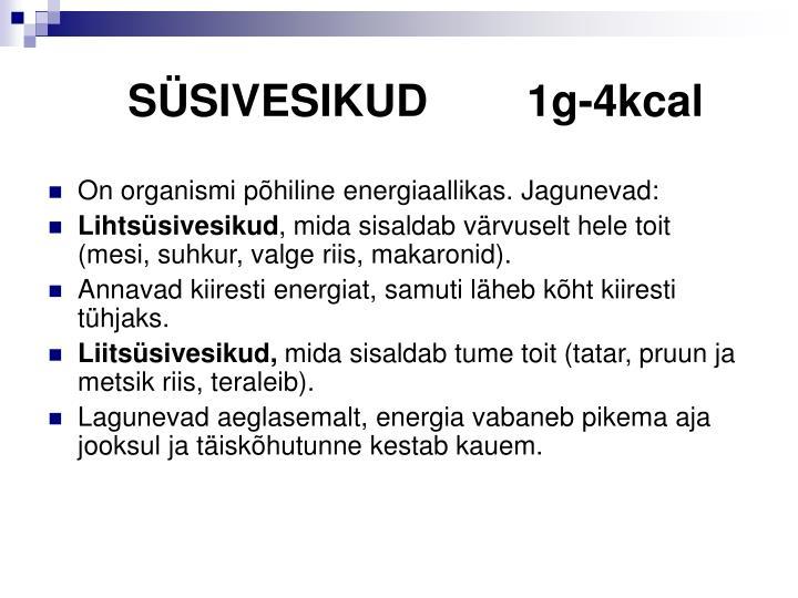 SÜSIVESIKUD1g-4kcal