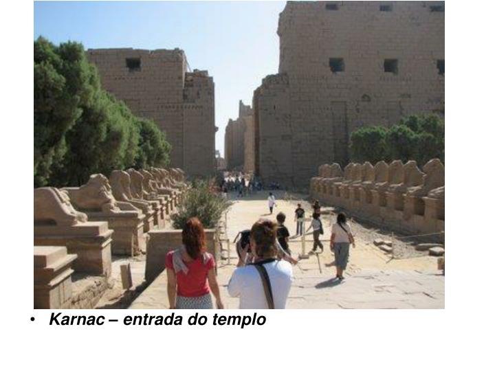 Karnac – entrada do templo