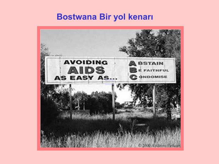 Road sign Botswana