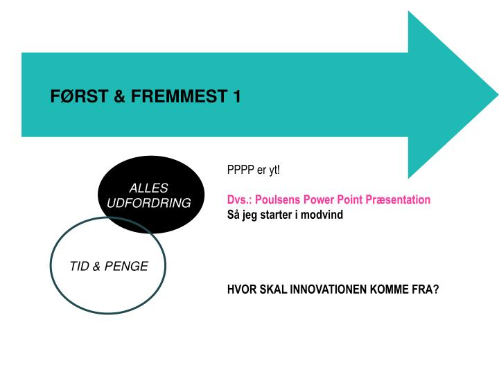 FØRST & FREMMEST 1