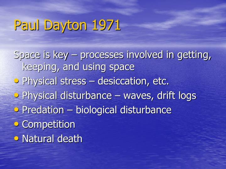 Paul Dayton 1971