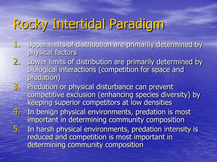 Rocky Intertidal Paradigm