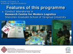 features of this programme1