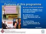 features of this programme2