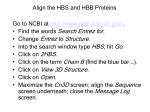 align the hbs and hbb proteins
