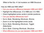 effect of the glu val mutation on hbb structure2
