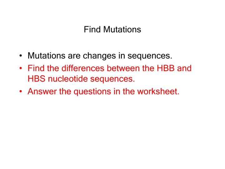 Find Mutations