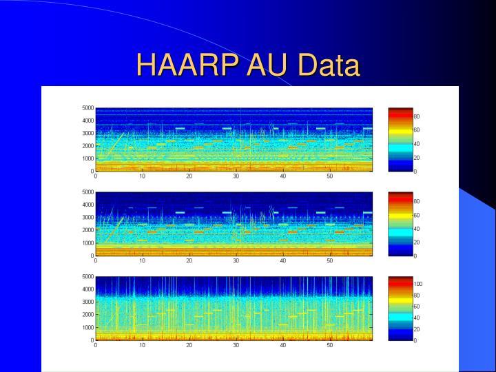 HAARP AU Data